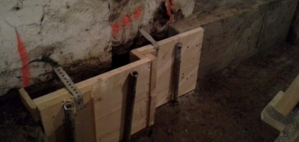 Basement lowering and underpinning
