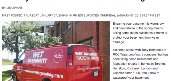 The Sun - Protect your basement from winter water damage