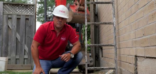 Exterior Waterproofing Job